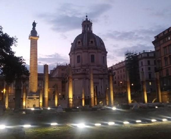 Forum of Caesar Light Show | Study Abroad | Arcadia Abroad | The