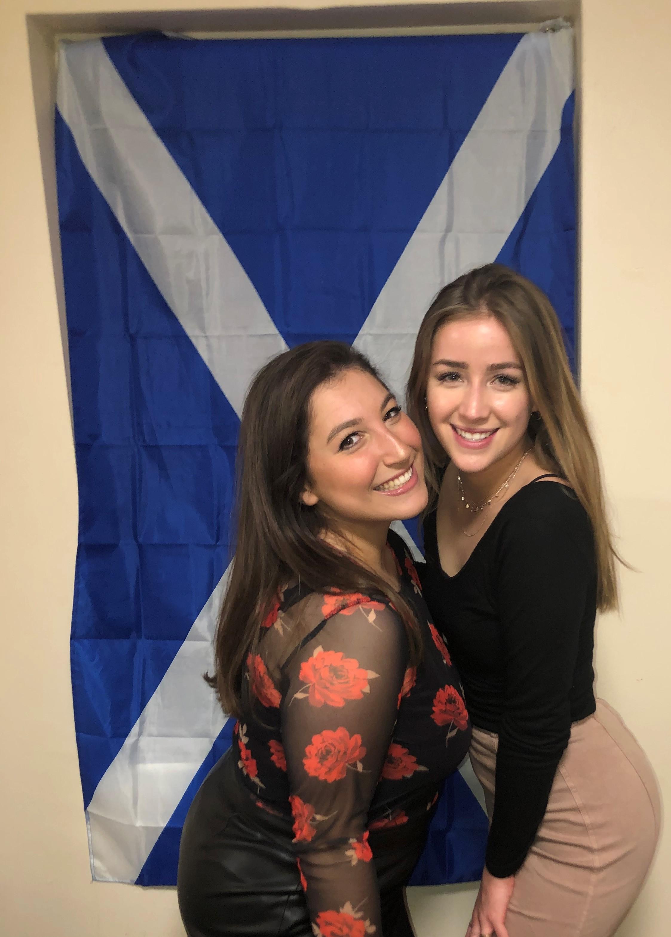 Courtney with friend