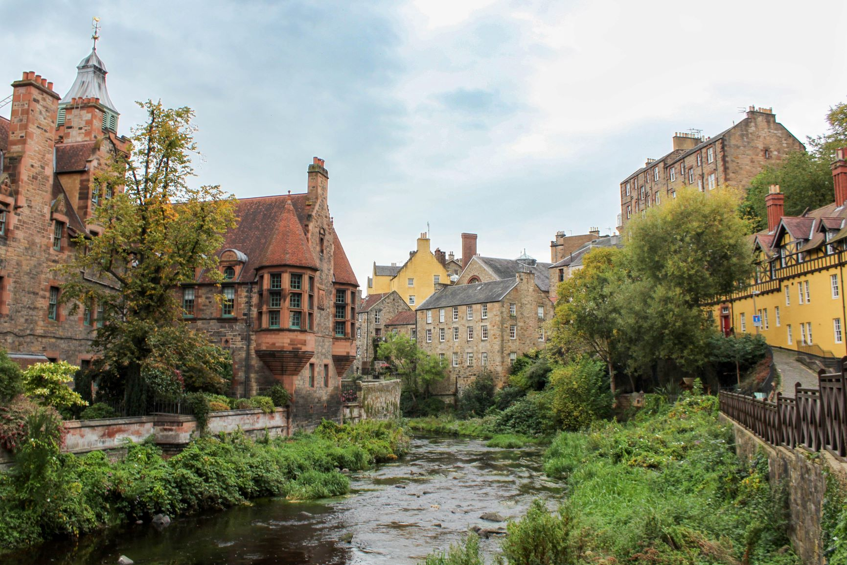 Dean Village, A. O'Donnell, Fall 2017 Arcadia Scotland Student.