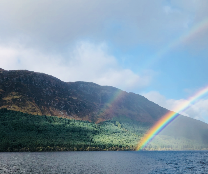 Rainbow at Loch Ness, Kylie Melodick, 2018.
