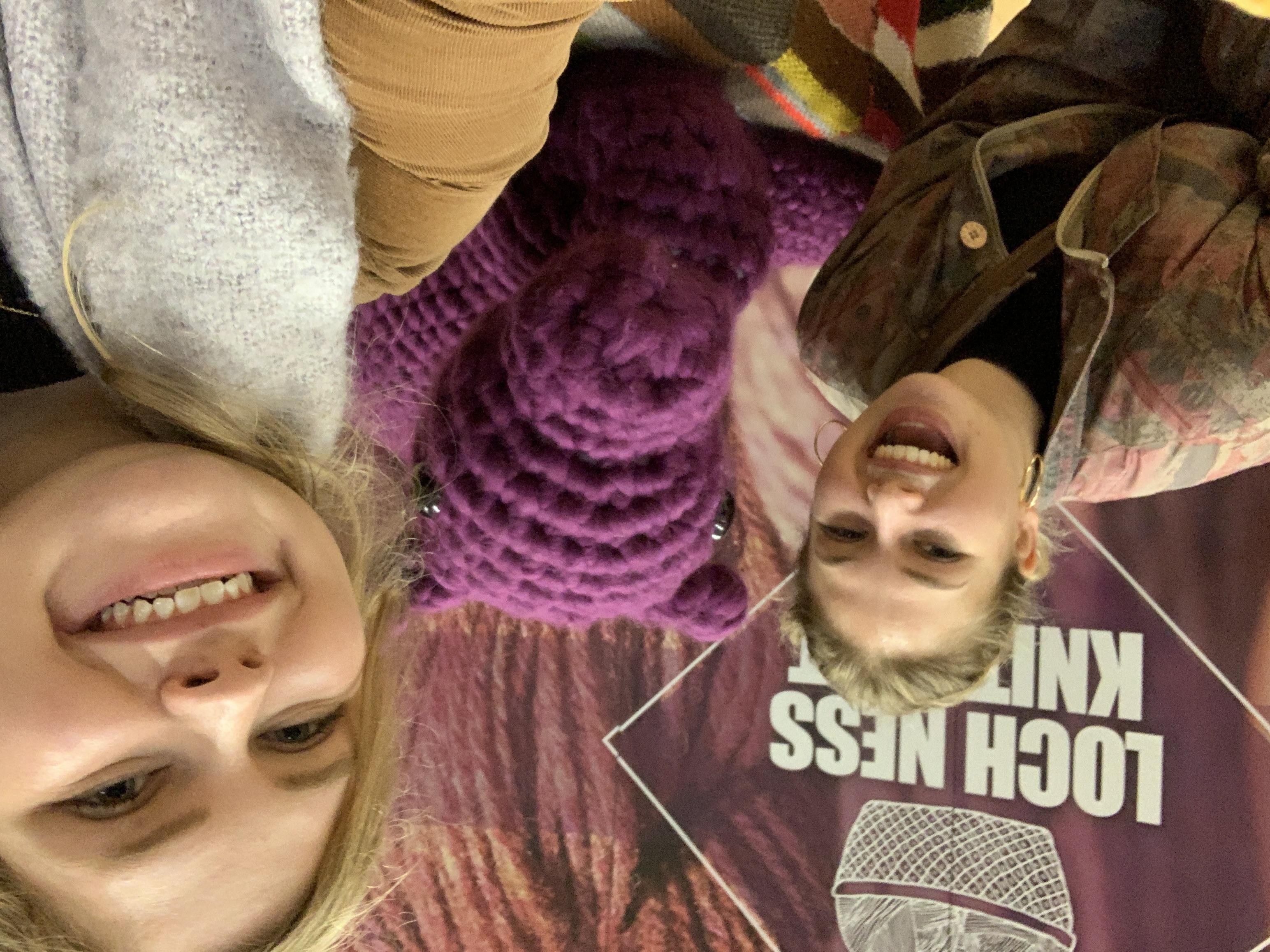 Jenna & Kayla at Knit-fest