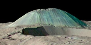 3D visualization of Ahuna Mons, based on Dawn data. Credit: Dawn Science Team and NASA/JPL-Caltech/GSFC