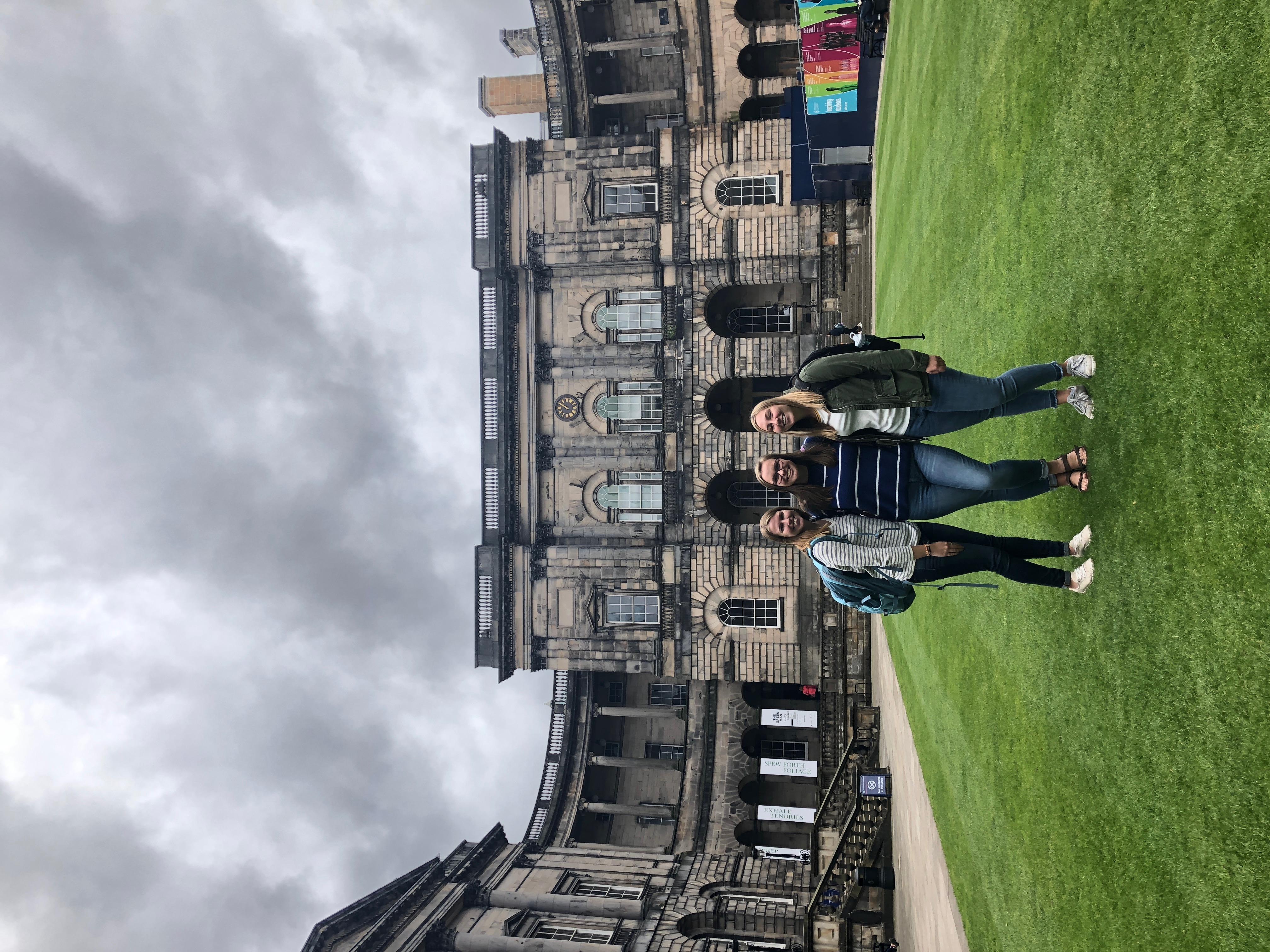 Riley at Old College in Edinburgh