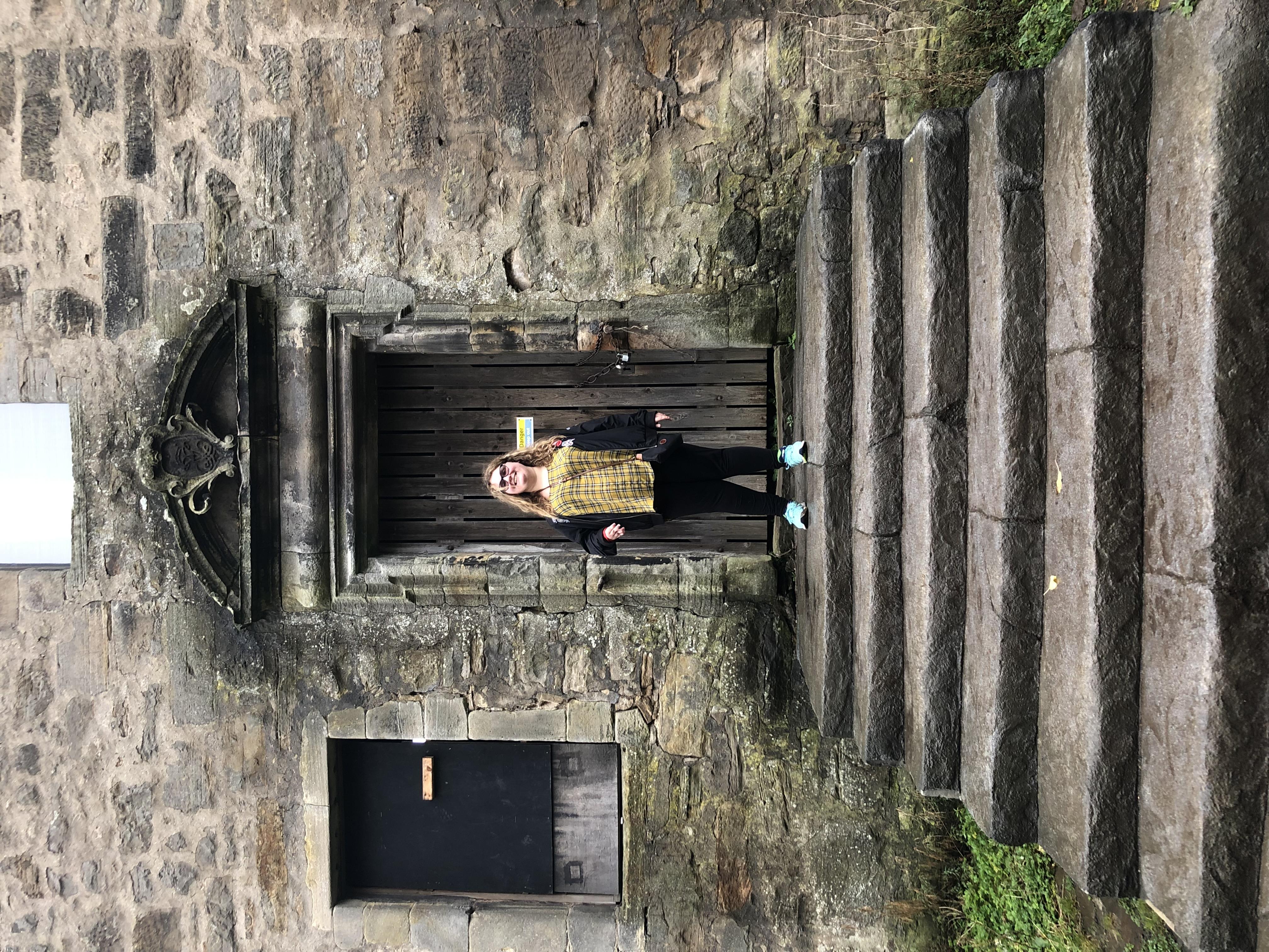 Rachael at a Castle